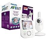 Philips Avent Video-Babyphone SCD630/26, 3,5 Zoll Farbdisplay, ECO-Mode, 10 Std. Akku, weiß/grau